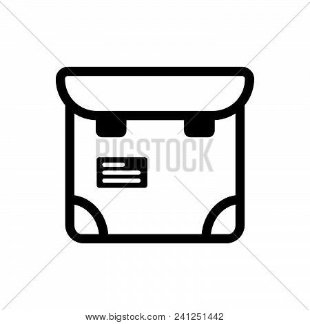 Bag Vector Icon On White Background. Bag Modern Icon For Graphic And Web Design. Bag Icon Sign For L
