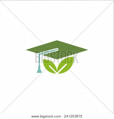 Toga Hat Icon. Graduate Symbol. Vector Template Ready For Use