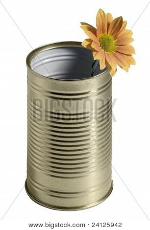 Tin Can And Flower