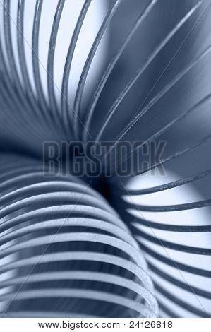 Metallic Spiral Abstract