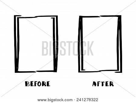 Before After Frames Vector Photo Free Trial Bigstock