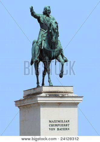 Maximilian Statue In Blue Back