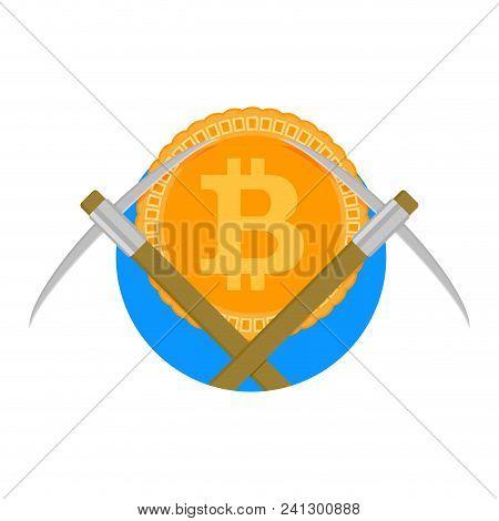 Crypto Mine Farm Icon. Mining Pool Symbol, Vector Illustration