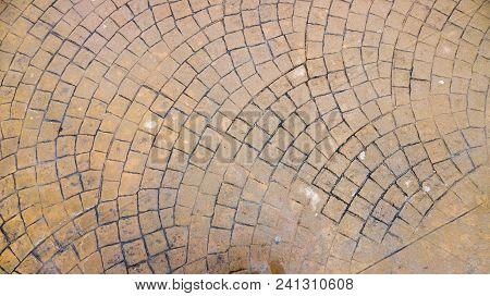 Waterproof Stamped Concrete Pavement Outdoor, Mimics Cobblestones Pattern, Wet Flooring Exterior, De