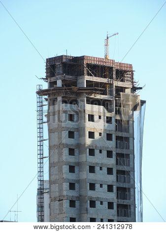 Concrete Structure Of A Building Under Construction