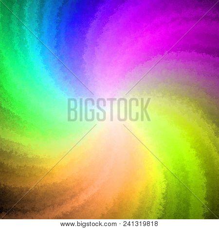 Beautiful joyful rainbow colorful twiel swirl whirl curvy abstract illustration background poster