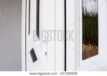 White Pvc Front Door, White Plastic Door