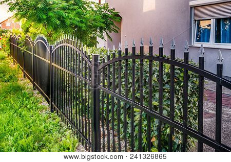 Iron Fence, Black Metal Fence Hdr Photo