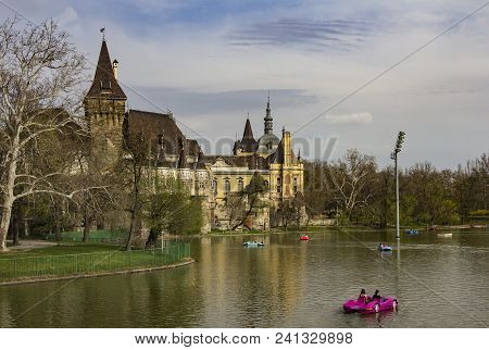 Historical Building In Budapest - Vajdahunyad Castle - Meseum Of Agriculture, In Main City Park With