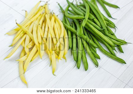 Yellow And Green Bean For Background