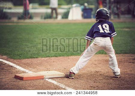 Runner on third base in a baseball game