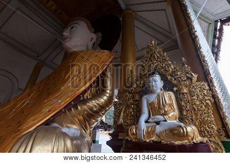 Buddha At Shwe Dagon Pagoda, Yangon, Myanmar