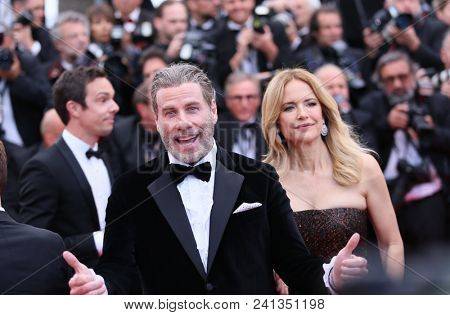 Kelly Preston and John Travolta   attends the screening of 'Solo: A Star Wars Story' during the 71st Cannes Film Festival at Palais des Festivals on May 15, 2018 in Cannes, France.