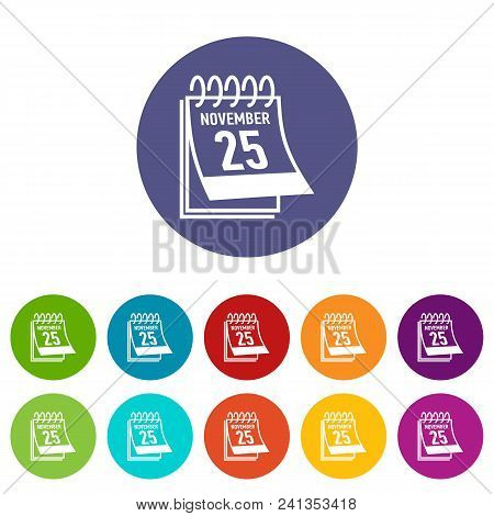 Calendar Twenty Fifth November Black Friday Icon. Simple Illustration Of Calendar Twenty Fifth Novem