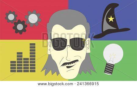 Genius Smart Face People High Intellegence Power Confident