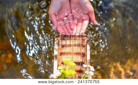 Pure, Clean, Clear Spring Water;drinking Water And Pure Life