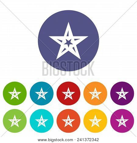 Geometric Figure Star Icon. Simple Illustration Of Geometric Figure Star Vector Icon For Web