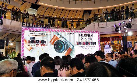 Bangkok, Thailand - February 20, 2018: Unveil Event Of Fujifilm X-a5, The Latest Mirrorless Camera X