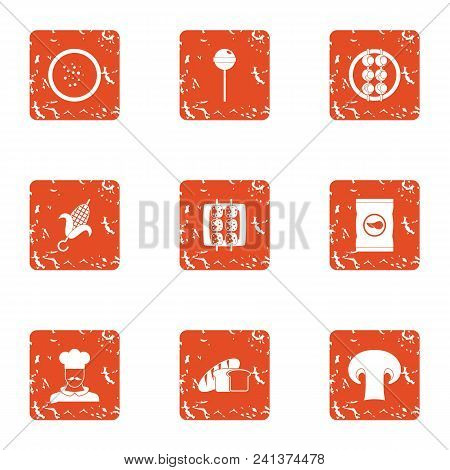 Culinary Specialist Icons Set. Grunge Set Of 9 Culinary Specialist Vector Icons For Web Isolated On