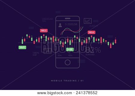 Mobile Stock Market Investment Trading. Financial Analytics. Mobile Stock Trading Concept, Business