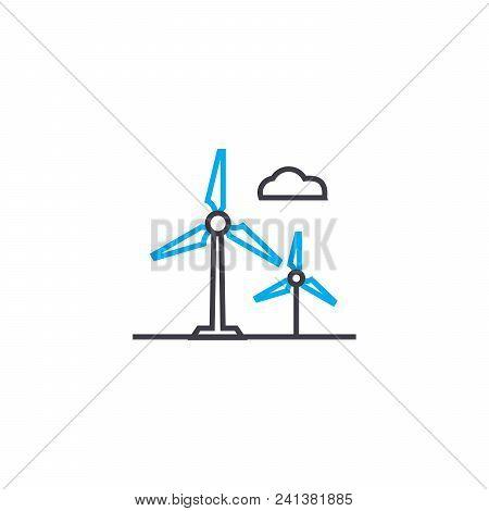Alternative Energy Sources Line Icon, Vector Illustration. Alternative Energy Sources Linear Concept
