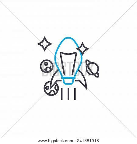 Ambitious Goals Line Icon, Vector Illustration. Ambitious Goals Linear Concept Sign.