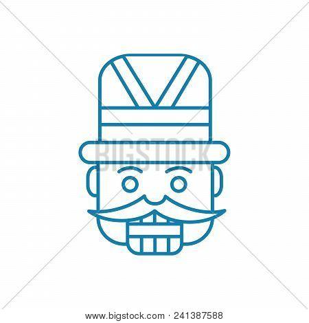 Carnival Costume Line Icon, Vector Illustration. Carnival Costume Linear Concept Sign.
