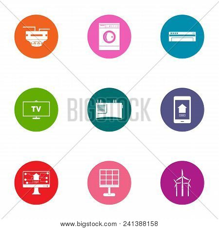 Technological Progressiveness Icons Set. Flat Set Of 9 Technological Progressiveness Vector Icons Fo