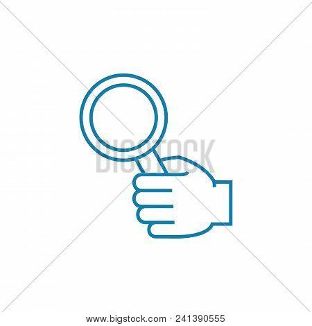 Comprehensive Research Line Icon, Vector Illustration. Comprehensive Research Linear Concept Sign.