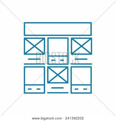 Control Panel Line Icon, Vector Illustration. Control Panel Linear Concept Sign.
