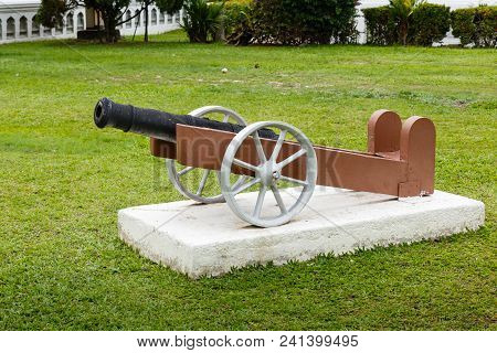 Ancient Cannon, The Kapitan Keling Mosque, Georgetown Malaysia