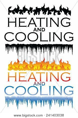 Heating And Cooling Designs Is An Illustration That Can Be Used For Heating And Cooling Or Hvac Comp