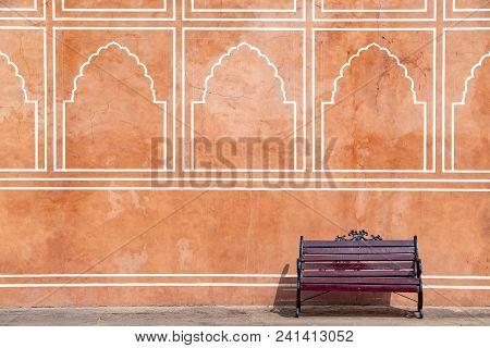 Jaipur City Palace In Jaipur City, Rajasthan, India. An Unesco World Heritage Know As Beautiful Pink