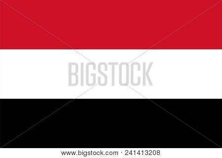 Flag Of Republic Of Yemen,   In High Resolution 6000x9000px