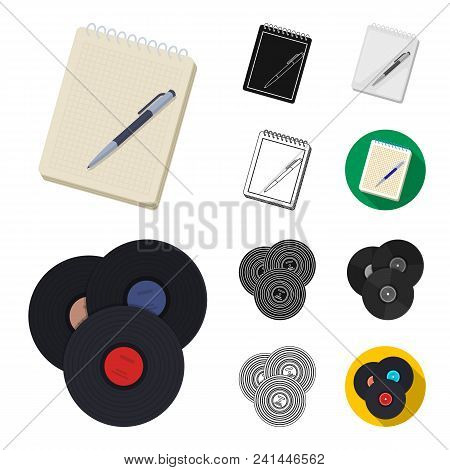 Style Hipster Cartoon, Black, Flat, Monochrome, Outline Icons In Set Collection For Design. Hipster