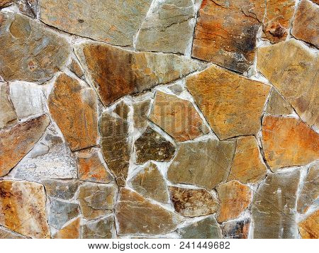 Large Paving Slabs Made Of Natural Stone. Road Surface, Construction. Tessellated Paving Slabs.