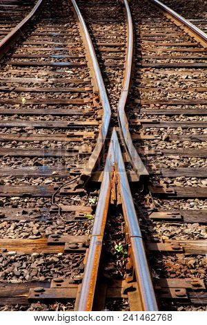 Railroads background vertical