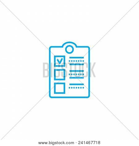 Employee Survey Line Icon, Vector Illustration. Employee Survey Linear Concept Sign.