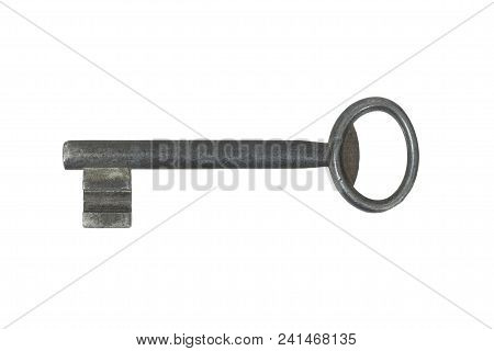Old Metal Key Isolated On White Background