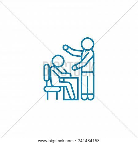 Manual For Employees Line Icon, Vector Illustration. Manual For Employees Linear Concept Sign.