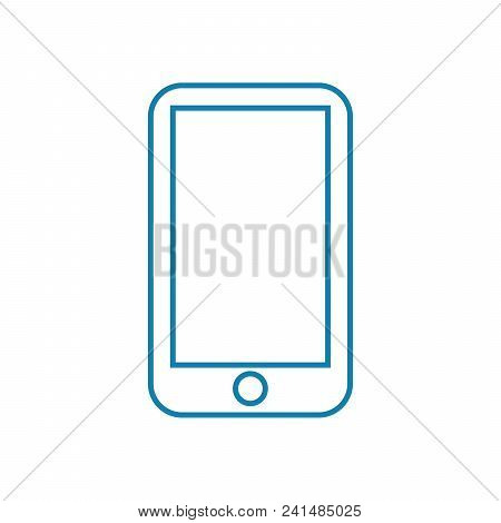 Mobile Telephony Line Icon, Vector Illustration. Mobile Telephony Linear Concept Sign.