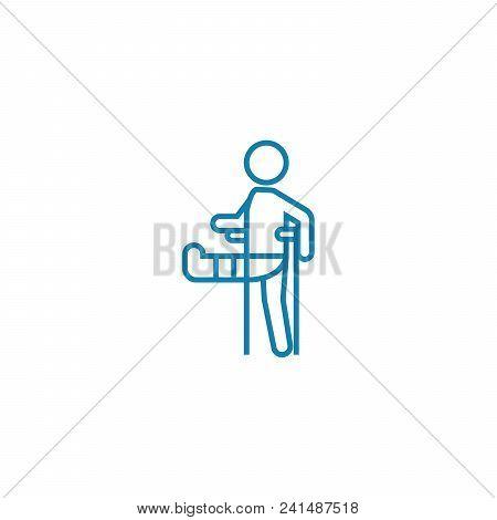 Physical Trauma Line Icon, Vector Illustration. Physical Trauma Linear Concept Sign.
