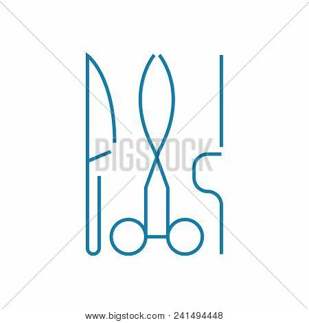 Surgery Department Line Icon, Vector Illustration. Surgery Department Linear Concept Sign.