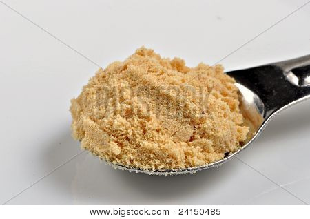 Spoonful Of Ground Double Superfine Mustard.