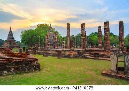 Beautiful park Sukhothai historical park in Thailand poster