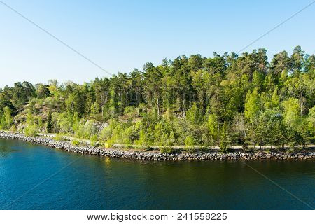 Spring Landscape Of The Scandinavian Fjords Tourism