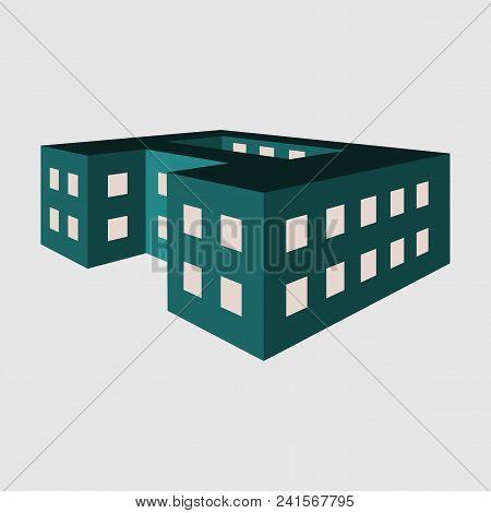 Vector Illustration Of A School Building. Logo