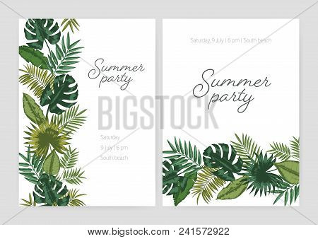 set summer party vector photo free trial bigstock