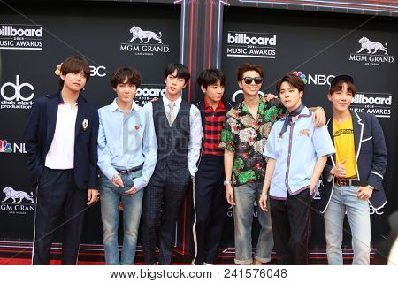 LAS VEGAS - MAY 20:  BTS, Jin, Suga, J-Hope, RM, Jimin, V, Jungkook, Rap Monster at the 2018 Billboard Music Awards at MGM Grand Garden Arena on May 20, 2018 in Las Vegas, NV