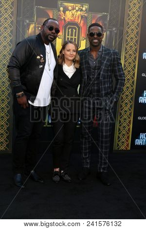 LOS ANGELES - MAY 19:  Brian Tyree Henry, Jodie Foster, Sterling K Brown at the